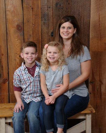 Dr. Kim DeWire with her children at DeWire Dental, Hellertown, PA